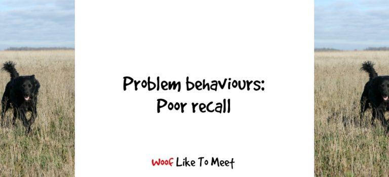 Problem behaviours: poor recall