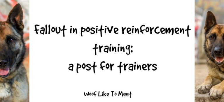 Fallout in positive reinforcement training: a post for trainers